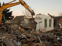 Демонтаж, снос, вывоз зданий и сооружений