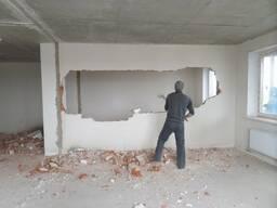 Демонтаж стен, пола, штукатурки, вывоз