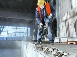 Демонтажные работы, демонтаж усиление проёмов, стен, стяжки