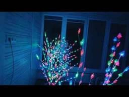Дерево светящееся Новогодняя сакура 145 см Led 60 220V, Мульти цвета Шишки