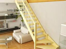 Деревянная межэтажная лестница на второй этаж
