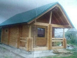 Деревянные дома из профилированного бревна