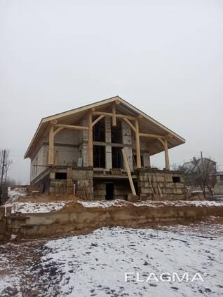 Деревянные конструкции, навесы из бревна, терассы