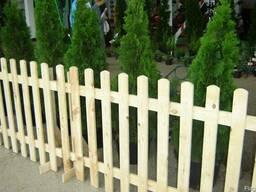 Деревянные заборы - фото 2