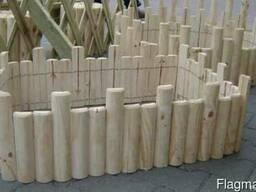Деревянные заборы - фото 3