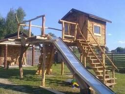 Детская площадка из дубового массива