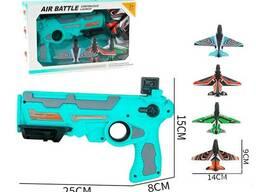 Детский пистолет катапульта с летающими самолетами Air Battle