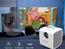 Детский проектор Kids Story Projector Q2 Белый с голубой ручкой