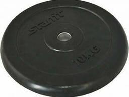 Диск обрезиненный Starfit BB-202 (10 кг) black