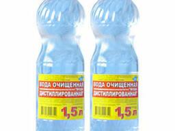 Дистиллированная вода 1,5л 5л 19л 1000л