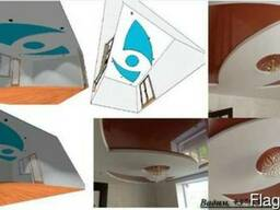 Дизайн-проект потолка из гипсокартона.