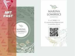 Дизайн визиток, листовок, каталогов