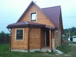 Дом сруб из проф. бруса проект Андрей 6х8м можно под ключ
