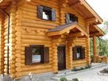 Изготовление домов бань из бревна оцилиндрованного и рубленн - фото 1