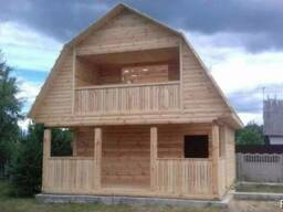 Дома из бруса Верона 6×6 установка. Марьина Горка - фото 4