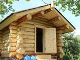 Изготовление домов бань из бревна оцилиндрованного и рубленн - фото 5