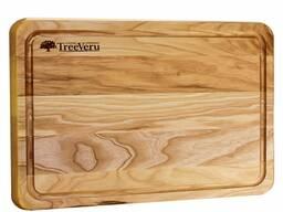 Доска деревянная кухонная разделочная прямоугольная ясень 35х25х2см Украина опт