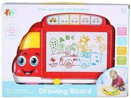 """Доска для рисования """"Автобус"""" цветная"""