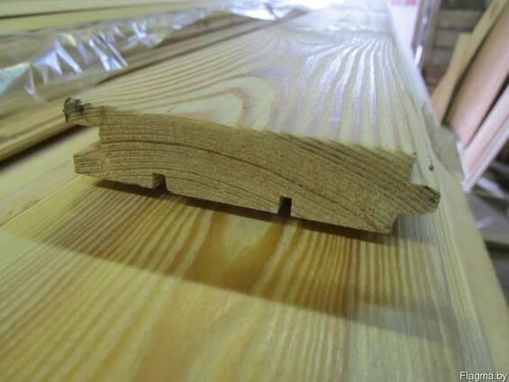 Доска пола из лиственницы сибирской 28х125/135х6000мм