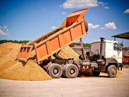 Доставка песка, аренда самосвала 20т по Витебску и области