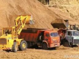 Доставка песка(строительный , речной)