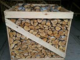 Дрова Береза сухие дрова в ящиках 1RM ОПТОМ