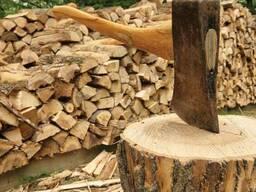 Дрова в чурках и колотые, сосновых и лиственных пород.