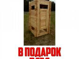 Душ деревянный КомфортПром 1,2x1,2 метра