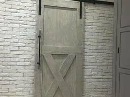 Двери межкомнатные амбарные раздвижные в стиле ЛОФТ.