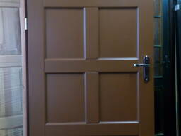 Двери входные из массива утепленные, модель Скандинавия.