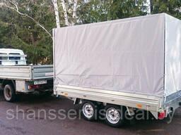 Двухосный прицеп ССТ-7132-31, размером 2. 99х2. 05, г/п 1940 кг, с тормозной системой. ..