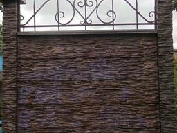 """Двухсторонний бетонный забор цветной"""" ШИП-ПАЗ"""" СКАЛА"""