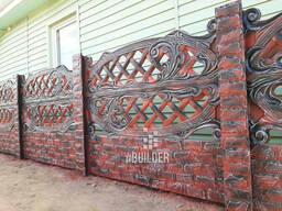 Покраска бетонного забора блоков для забора бессер