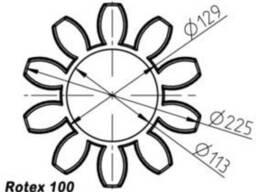 Эластичный элемент rotex 100 Spider 92 Shore A