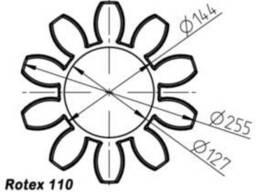 Эластичный элемент rotex 110 Spider 64 Sh-D