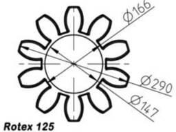 Эластичный элемент rotex 125 Spider 64 Sh-D
