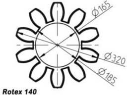 Эластичный элемент rotex 140 Spider 64 Sh-D