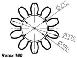 Эластичный элемент rotex 160 Spider 64 Sh-D