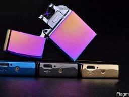 Электронная USB-зажигалка с двойной дугой (классическая Х) - фото 5