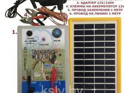 Электропастух ЭПУ-1 + Солнечная панель 3W