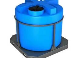 Емкость в обрешетке для воды вертикальная Т 2000 л