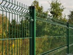 Еврозабор (готовые панели). Коричневый и зеленый цвет.