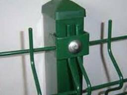 Еврозабор (готовые панели). Коричневый и зеленый цвет 3д,2Д