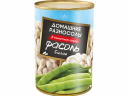 """Фасоль белая в томатном соусе """"Домашние Разносолы"""" 425 мл"""