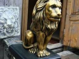 Фигура льва, вазоны