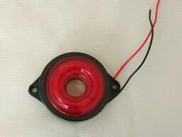 Фонарь габаритный LED светодиодный 24V, красный круглый (d=55мм, 6-светодиод. ) Ман. ..