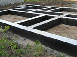 Фундаменты ленточные 3180*800*500 мм.