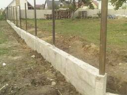 Фундаменты под забор