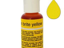 Гелевый краситель Chefmaster Liqua-Gel Neon Brite Yellow. ..