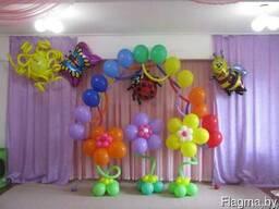 Гелиевые воздушные шары, оформление праздника
